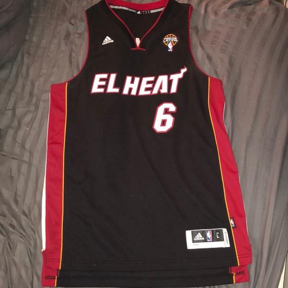 premium selection b05f3 cd34c Adidas Lebron James 'El Heat' Noche Latina jersey